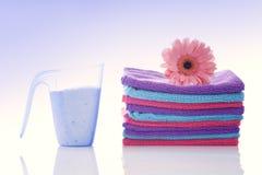 Loundry, cleaning produkty Zdjęcie Royalty Free