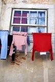 Loundry di secchezza Fotografia Stock