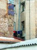 Loundry i den Dubrovacka gatan royaltyfria bilder