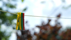 Loundry-Klipp Lizenzfreies Stockbild