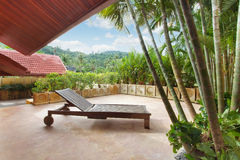 Lounge. Fragment  like view of nice tropical villa with pool Royalty Free Stock Photos