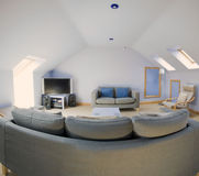 Lounge. A lounge area in a newly converted loft Royalty Free Stock Photo