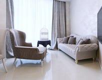 Lounge area, Art Deco style Stock Photos