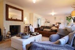 Lounge Area Of Contemporary Family Home Stock Photos