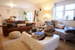 Lounge Area Of Contemporary Family Home Royalty Free Stock Images