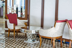 Lounge area of a hotel, club, company lobby Royalty Free Stock Photo