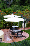 Lounge area in the rain forest Royalty Free Stock Photos