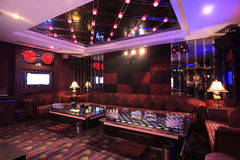 Lounge bar. Photograph of the modern lounge area of bar Royalty Free Stock Photo