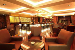 Lounge Bar. Photo of a modern lounge bar Royalty Free Stock Image
