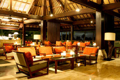 Lounge Bar. Hotel Lounge Bar in Bali Royalty Free Stock Image
