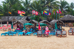Lounge bar at Hikkaduwa Beach Stock Photography