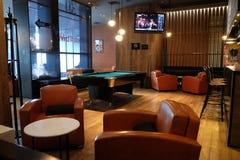 Lounge bar interior, Penta Hotel in Beijing. Lounge bar interior, Penta Hotel at Chongwenmenwai Street, Chongwenmen, Dongcheng District in Beijing, China Stock Image