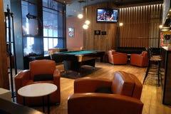 Lounge bar interior, Penta Hotel, Beijing. Lounge bar interior, Penta Hotel at Chongwenmenwai Street, Chongwenmen, Dongcheng District in Beijing, China Royalty Free Stock Image