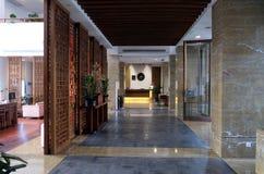 Lounge bar interior, Yuehe Hotel in Jiaxing, China. Lounge bar interior, Yuehe Hotel, Nanhu Qu, Jiaxing Shi, Zhejiang Sheng in Jiaxing, China Stock Photography