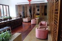 Lounge bar interior, Yuehe Hotel in Jiaxing, China. Lounge bar interior, Yuehe Hotel, Nanhu Qu, Jiaxing Shi, Zhejiang Sheng in Jiaxing, China Stock Photos