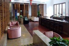 Lounge bar interior, Yuehe Hotel in Jiaxing, China. Lounge bar interior, Yuehe Hotel, Nanhu Qu, Jiaxing Shi, Zhejiang Sheng in Jiaxing, China Royalty Free Stock Photos
