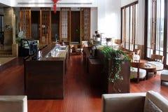 Lounge bar interior, Yuehe Hotel in Jiaxing, China. Lounge bar interior, Yuehe Hotel, Nanhu Qu, Jiaxing Shi, Zhejiang Sheng in Jiaxing, China Stock Photo