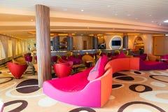 Lounge Bar-Kreuzschiff Lizenzfreie Stockfotos