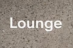 Lounge Bar Sign Royalty Free Stock Image