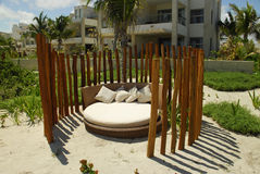 Lounge on Beach. Lounge in peace on the beach at a resort Royalty Free Stock Photos