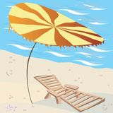 Lounge on the beach Royalty Free Stock Photography