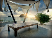 Lounge on a beach royalty free stock photo