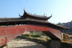 Lounge bridges. Timber Arch Lounge Bridges in Tai-Shun Mountain District,China Stock Image