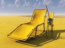 Lounge chair and drink Royalty Free Stock Photography