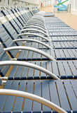 Lounge Chairs. Empty lounge chairs on a cruise ship royalty free stock photography