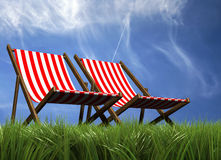 Lounge chairs Royalty Free Stock Images