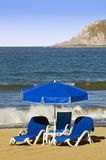 Lounge Chairs on the Beach Stock Image
