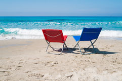 Lounge chairs Royalty Free Stock Photos
