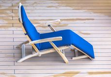 Lounge chair on deck of cruise ship. Lounge chair on deck of cruise liner royalty free stock image