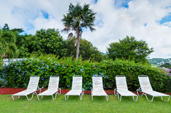 Lounge chairs, Resort Life Stock Photography