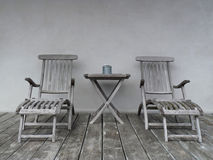 Lounge chairs and table Royalty Free Stock Photo