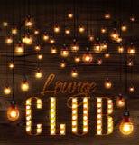 Lounge club glowing lights Royalty Free Stock Photo