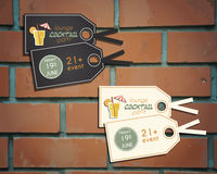 Lounge cocktail party stickers and labels Royalty Free Stock Photo