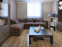 Lounge contemporary style Royalty Free Stock Image