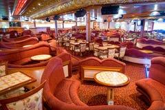Lounge in the cruise ship stock photos