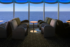 Lounge on a cruise ship with tables and armchair Stock Photography