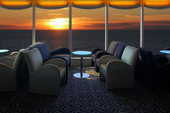 Lounge on a cruise ship Royalty Free Stock Images