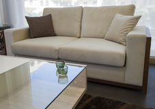 Lounge furniture in show room Stock Images