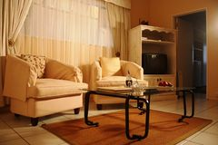 Lounge in a guest house Stock Photo
