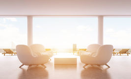 Lounge interior with sunlight Royalty Free Stock Photos