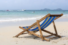 Lounge on the nice sea beach Royalty Free Stock Photo