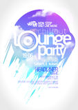 Lounge party poster design. Art lounge party poster design Stock Photography