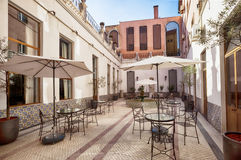 Lounge patio in Porto luxury hotel. Portugal Stock Images