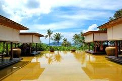 Lounge pool view area at luxury hotel. Phuket, Thailand royalty free stock photos