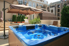 Lounge аrеа With Jacuzzi Royalty Free Stock Photo