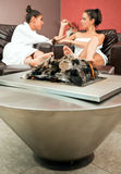 Lounge relax fire Royalty Free Stock Photography